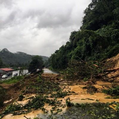 南投土石流毀樹扯電桿 台電搶修拚復電、通車