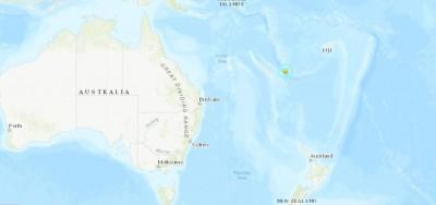 新喀里多尼亞海域發生規模6.8強震 震源深度僅14公里