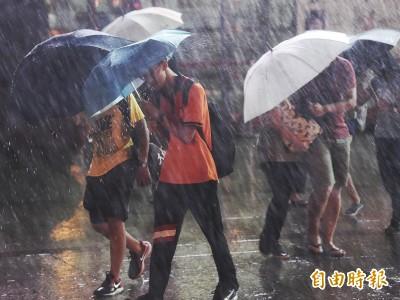 雨彈炸全台!深夜發布大雨特報 苗栗以北慎防豪雨
