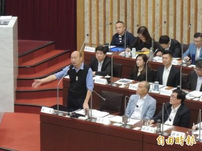議員質詢夜宿 韓國瑜:沒睡不報、睡過一定報
