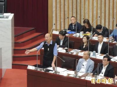 最想跟小英爭取什麼? 韓國瑜與議員互動惹笑官員