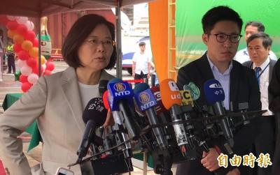 韓國瑜民調下滑 蔡英文諷:選民希望他履行對高市民承諾