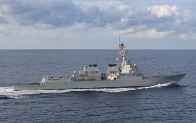 美國海軍第七艦隊證實:美2軍艦通過台灣海峽