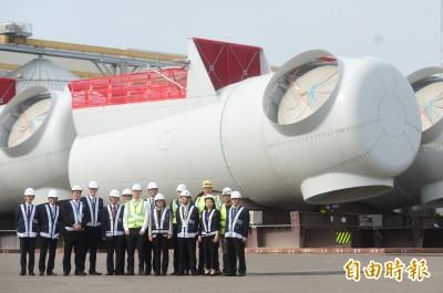 視察台中港離岸風電重件碼頭 蔡英文:台灣要打世界盃