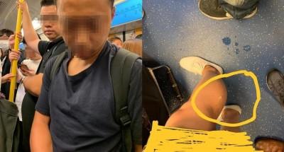 照片曝光網路爆紅! 噁男搭地鐵掏鳥對鄰女小腿噴精