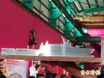 航母殺手沱江艦 2021交艦  蔡總統宣示「國艦國造」將發光發亮