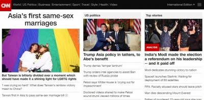 CNN再度大篇幅報導台灣同婚! 知名YouTuber登首頁