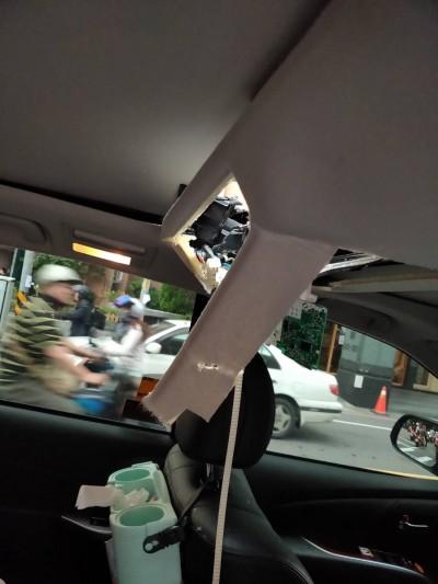 榔頭從天而降砸車 工地被要求停工開罰