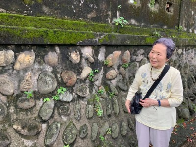 感人相遇!91歲灣生回家 撫摸校園圍牆憶往事