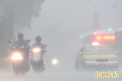 大雨特報再加1縣市! 松山區時雨量88毫米列一級淹水警戒
