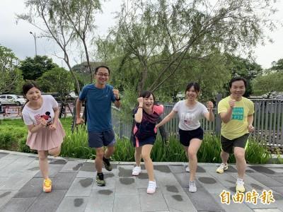 響應國家地理世界海洋6/2路跑 中醫大新竹附醫30醫護出征