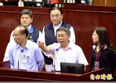 議員公布「喬蛋」音檔 柯P怒拍桌:台北市政府真正被竊聽
