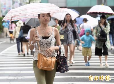對流旺盛9縣市大雨特報 午後各地防明顯雨勢