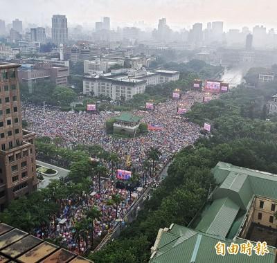 韓粉凱道造勢宣稱30萬人參加 下週六加開花蓮場