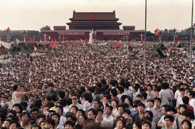 六四30年》北京地鐵木樨地站3出入口 「無故」封閉