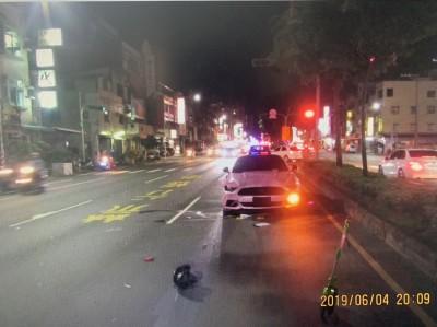 男疑開車闖紅燈 女騎士遭撞飛喪命