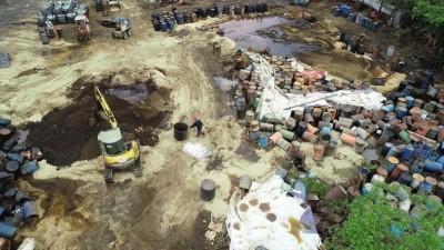 橋頭土地見3色廢污泥 高市環局:已列管、預計7月底清完