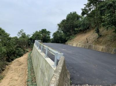新北萬里烏基農路下邊坡崩塌 修復完工