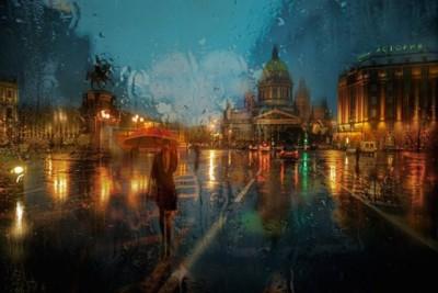 相信你的眼睛! 俄攝影師用「鏡頭」讓雨景變油畫