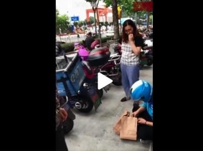 強國外送員送餐被偷大哭 網友質疑:天網有用嗎?