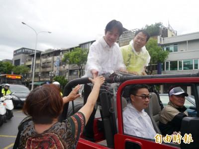 「壯大台灣車隊」冒雨進台中 賴清德:努力爭取最後勝利