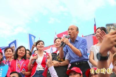 昨不知道《反送中》韓國瑜今卻聲明︰一國兩制不適用台灣