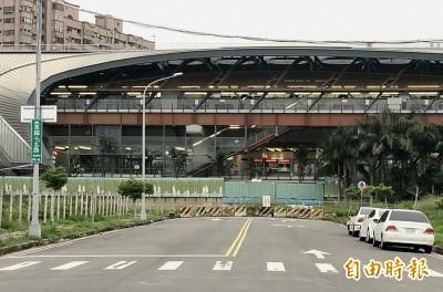 中捷松竹站兩鐵共構 卻只有1處出入口