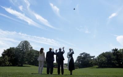 商品展示?波蘭總統來訪 川普要F-35在白宮上空開秀