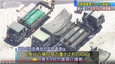 日自衛隊飛彈掉在高速公路上 警方火速進行交管