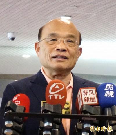 蘇貞昌:守護台灣自由民主 也為香港加油!