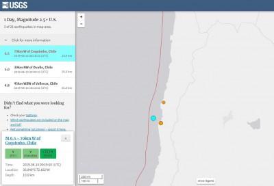 智利6.5極淺層強震 震源深度僅10公里