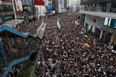 香港反送中黑潮塞爆6線道 空拍照超震撼!(圖輯)
