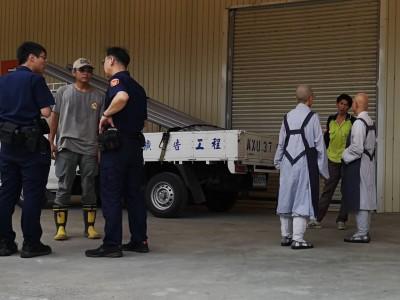 法鼓山農禪寺工人遮雨棚墜落  不幸身亡