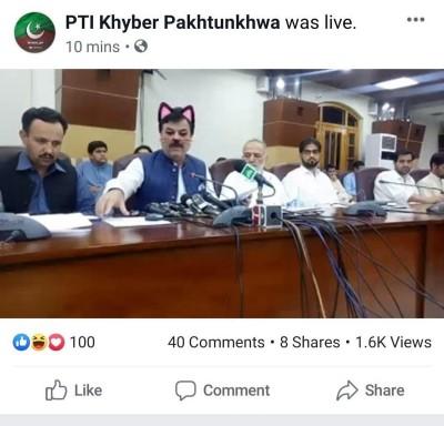 笑死!記者會直播忘了關貓濾鏡 巴基斯坦官員變超萌喵星人