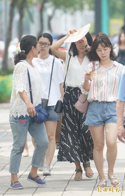 週二天氣穩定晴朗炎熱  午後仍要注意局部雷陣雨