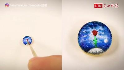 藥丸也可以拿來畫畫? 欣賞前要先準備放大鏡的微型藝術