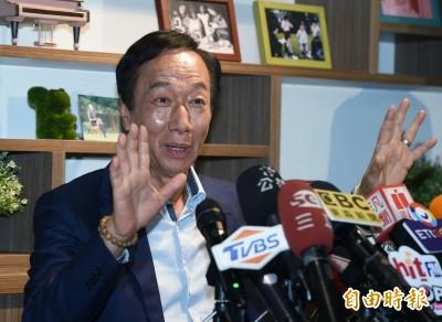 不滿被疑砸錢拼選舉 郭台銘:我沒領18%、每一分錢都自己賺的