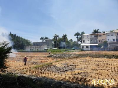 防疫需求有條件開放燒稻草首日  關山又變煙城