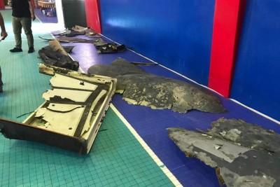 美軍無人機「全球鷹」遭擊落 伊朗展示殘骸