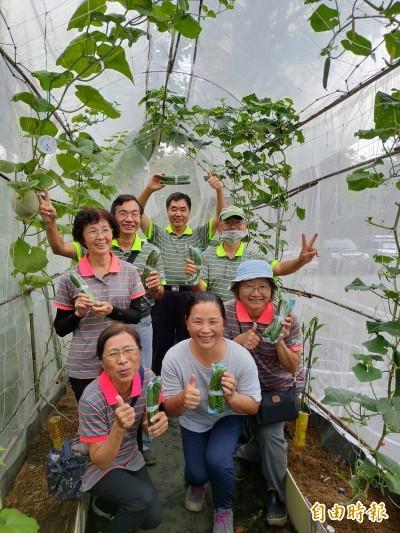 2坪迷你網室種雙瓜 嘉市社大自然農法分享班慶豐收