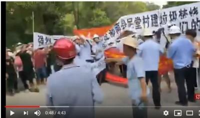 香港抗爭蔓延 中國廣東連2日數萬人堵塞高速公路 阻設電廠