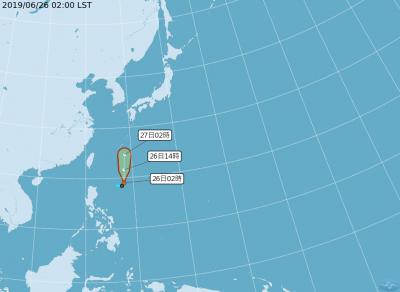 琉球南方熱帶低壓持續發展 恐成今年第3號颱風「聖帕」