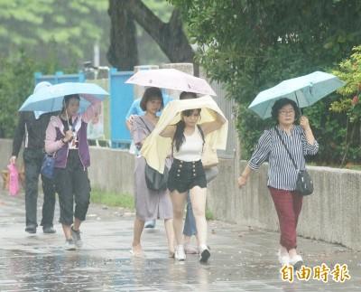 低壓北抬週二起天氣不穩 全台午後雷雨一路下到晚上