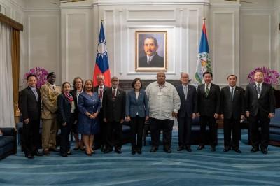 接見貝里斯總督訪團 蔡總統:盼持續深化兩國各項合作