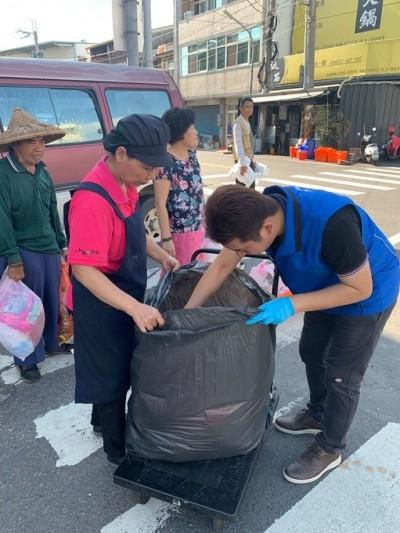 雲林垃圾破袋檢查 海區垃圾分類不合格率高達27%