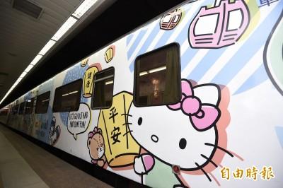 跟Hello Kitty一起遊台灣!環島之星彩繪列車可愛亮相