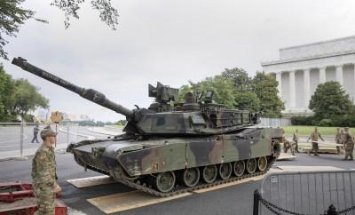 美國國慶日展示戰車 抗議者批川普軍國主義
