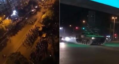 武漢人抗議中共興建焚化爐 解放軍戰車進駐畫面曝光!