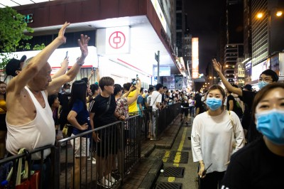 香港九龍77大遊行 警方武力清場、5人被捕
