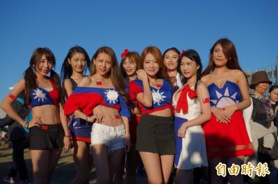 國旗裝美女照被盜標「女青年韓家軍」女模4字表不滿!
